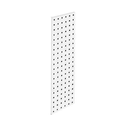 (1) 31.5 In. W x 9 In. H White Epoxy, 18 Gauge Steel  Pegboard Strip
