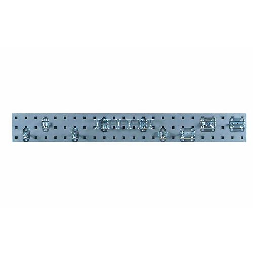 Silver Tool Pegboard Kit with (1) 36 In. x 4.5 In.  Steel Pegboard and 8 pc LocHook Assort.