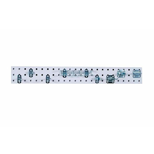 White Tool Pegboard Kit with (1) 36 In. x 4.5 In.  Steel Pegboard and 8 pc LocHook Assort.
