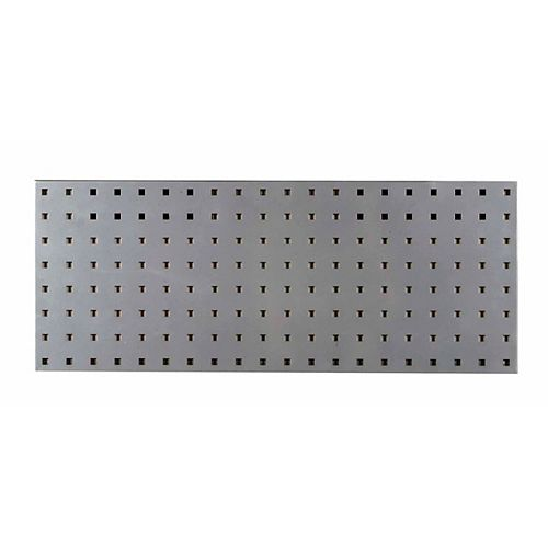 Triton (1) 30 In. W x 12 In. H Silver Epoxy, 18 Gauge Steel Square Hole Pegboard Strip