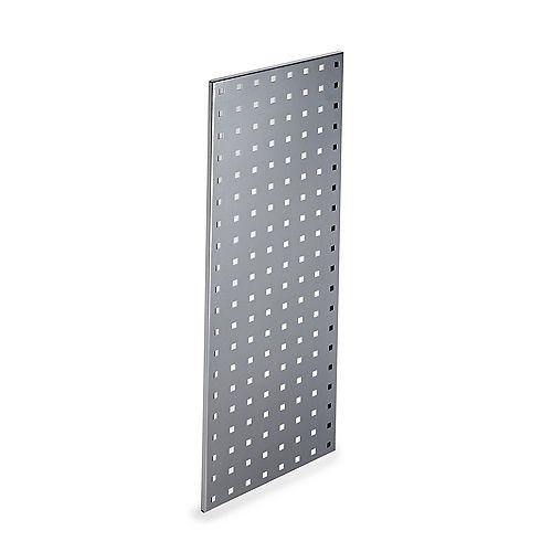 (1) 30 In. W x 12 In. H Silver Epoxy, 18 Gauge Steel Square Hole Pegboard Strip