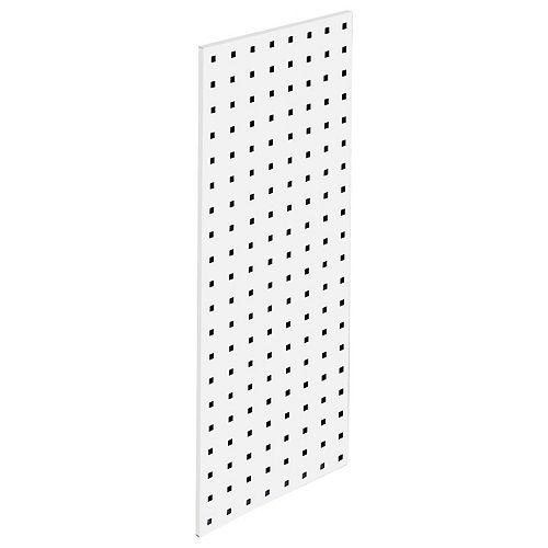 (1) 30 In. W x 12 In. H White Epoxy, 18 Gauge Steel Square Hole Pegboard Strip