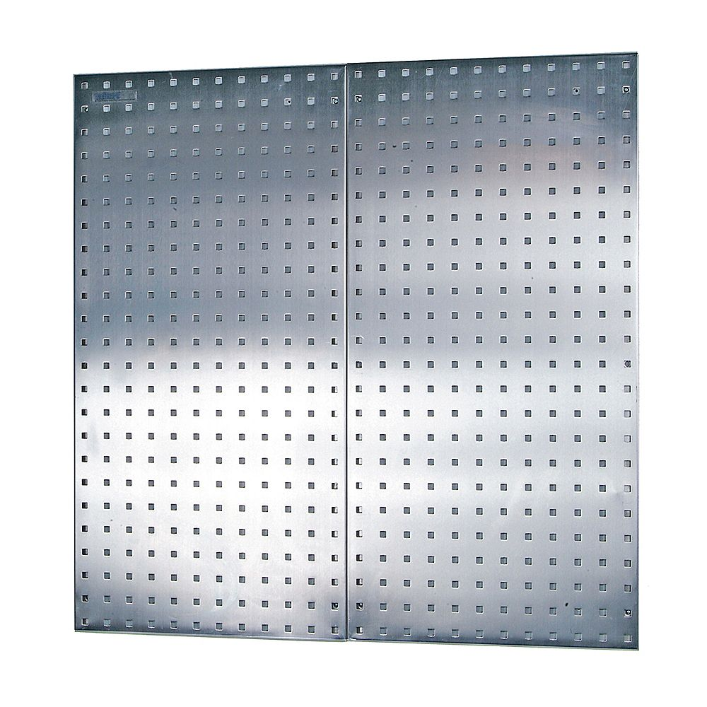 Triton (2) 18 In. W x 36 In. H x 1/2 In. D Stainless Steel Square Hole Pegboards with Mounting Hardware