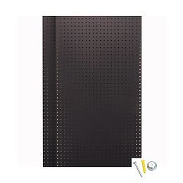 (2) Wall Ready Black Pegboards 24 In. W x 42 In. H x 1/4 In. D HDF Pegboards with Mounting Hardware