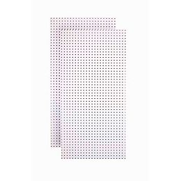 (2) 24 In. W x 48 In. H x 1/4 In. D  White Tempered Round Hole Pegboards