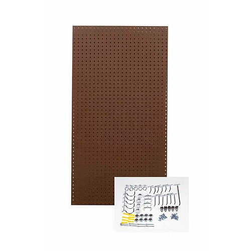 24 In. W x 48 In. H x 1/4 In. D Commercial Grade Tempered Pegboards with 36 pc. Hook Assortment