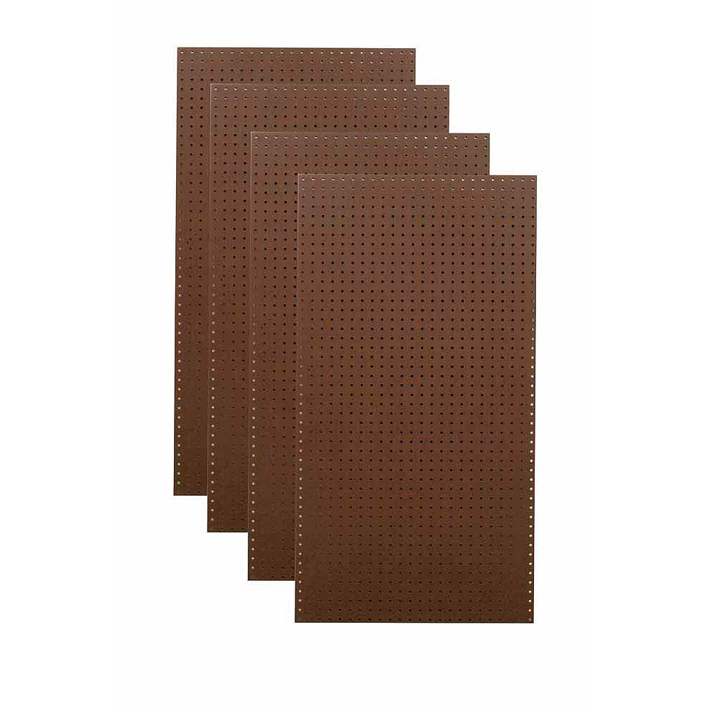 Triton (4)  24 In. W x 48 In. H x 1/4 In. D Brown Commercial Grade Tempered Round Hole Pegboards
