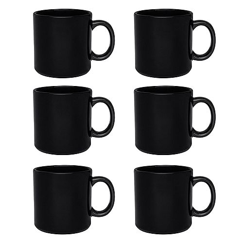 Actual Ensemble de 6 tasses - 12,17 oz. en noir