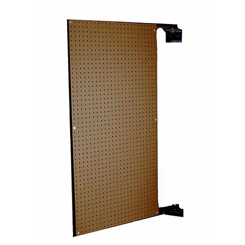 24 In. W x 48 In. H x 1-1/2 In. D Wall Mount Double-Sided Swing Panel Pegboard