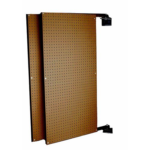 (2) 24 In. W x 48 In. H x 1-1/2 In. D Wall Mount Double-Sided Swing Panel Pegboard