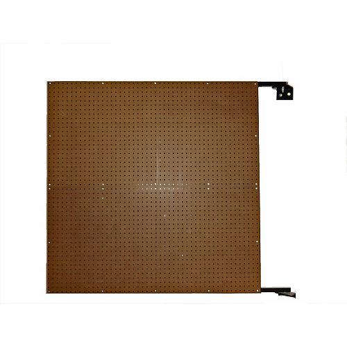 48 In. W x 48 In. H x 1-1/2 In. D Wall Mount Double-Sided Swing Panel Pegboard