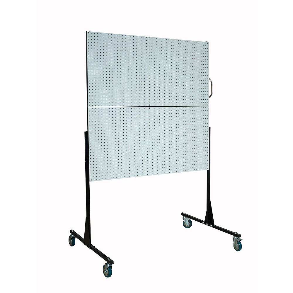 Triton 50 In. W Mobile Stand-Alone Pegboard Unit with 4 Polypropylene DuraBoard Pegboards