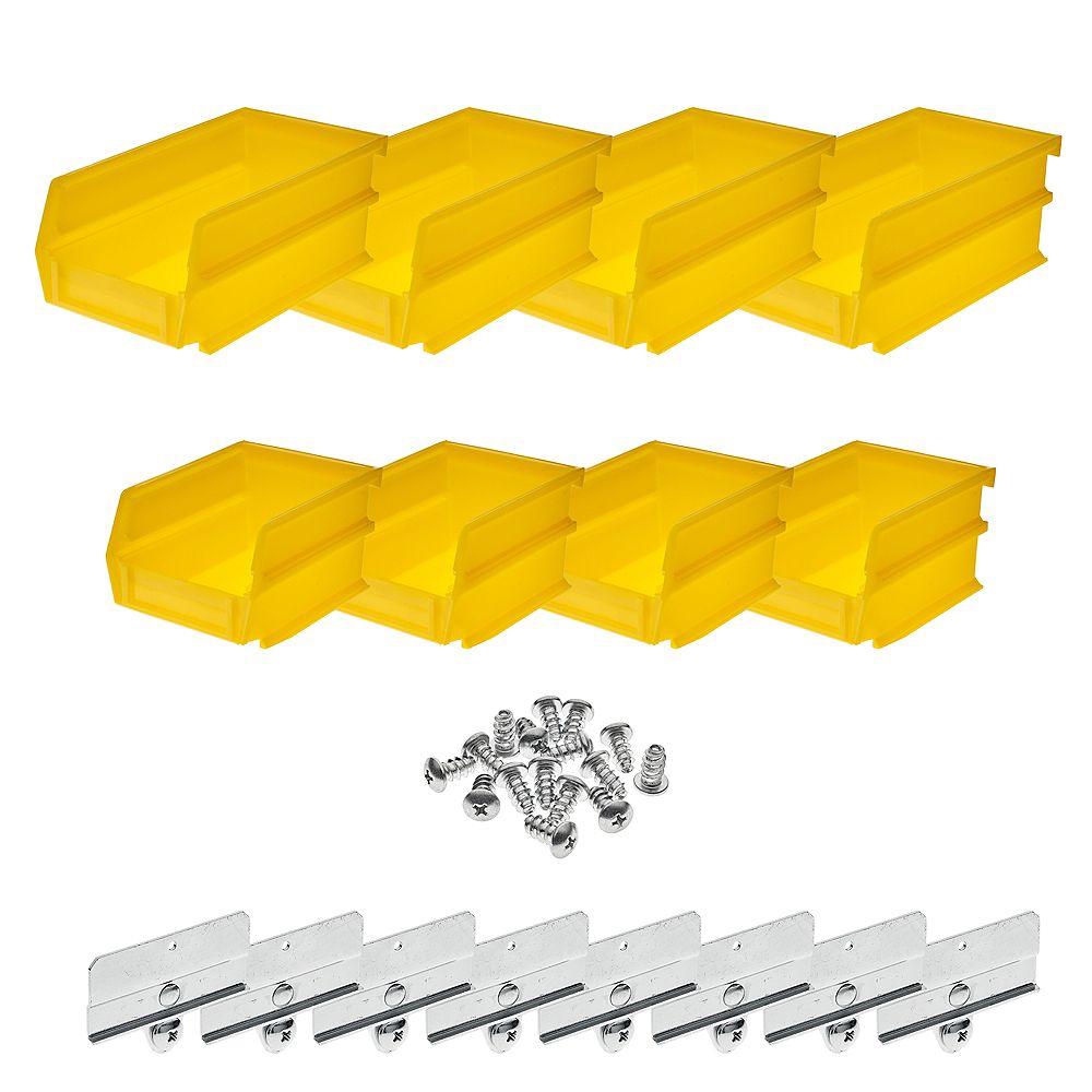 Triton 4-1/8 in. W x 3 in. H Yellow Wall Storage Bin ...