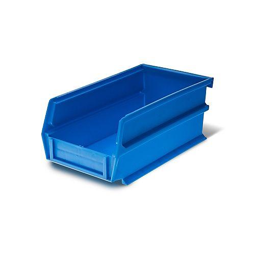 LocBin 0.301-Gal. Empilage suspendu Imlocking Polypropylene Storage Bin en bleu (24-Pack)