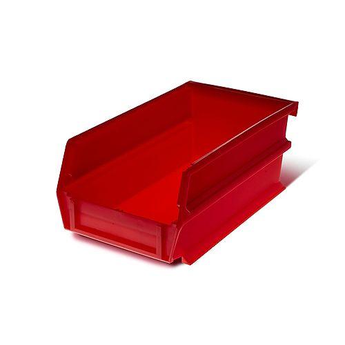 Triton LocBin 0.301-Gal. Stacking Hanging Interlocking Polypropylene Storage Bin in Red (24-Pack)