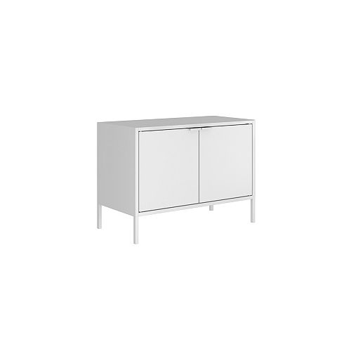 """Smart Low 27.55"""" Wide TV Stand Cabinet in White"""