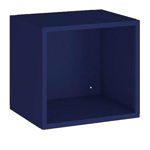 Manhattan Comfort Smart Floating Cube Display Shelf in Blue