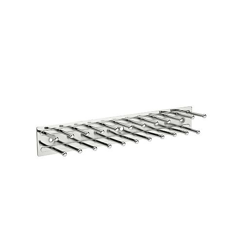 11 3/4 po (298 mm) Support à cravates fixe pour garde-robe, Chrome