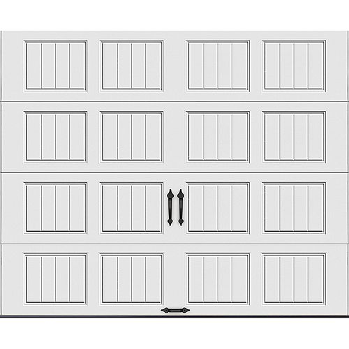 Clopay Gallery  9 ft. x 7 ft. 18.4 R-Value Intellicore Insulated Solid White Garage Door