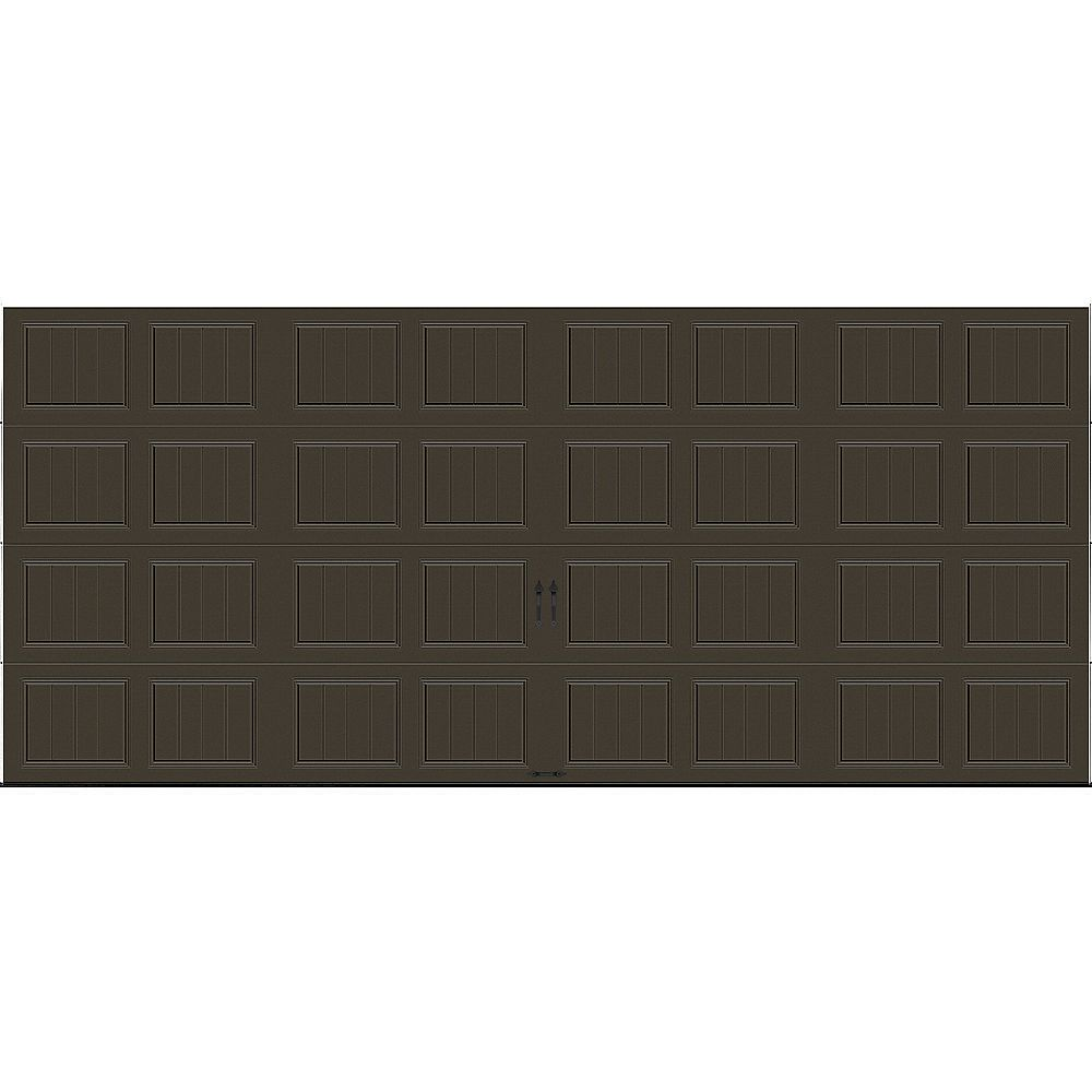 Clopay Porte de garage Gallery 16pi x 7pi isolée Intellicore Valeur «R» 18.4 Brun Moka
