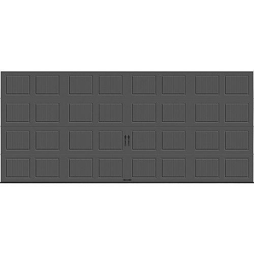 Porte de garage Gallery 16pi x 7pi isolée Intellicore Valeur «R» 18.4 Charbon
