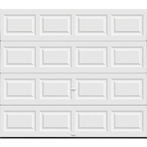 Clopay Porte de garage Classique 8pi x 7pi isolée Intellicore Valeur «R» 12.9 Blanc