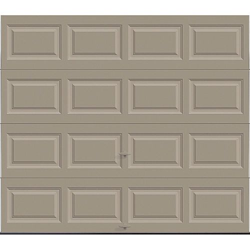 Porte de garage Classique 8pi x 7pi isolée Intellicore Valeur «R» 12.9 Sable
