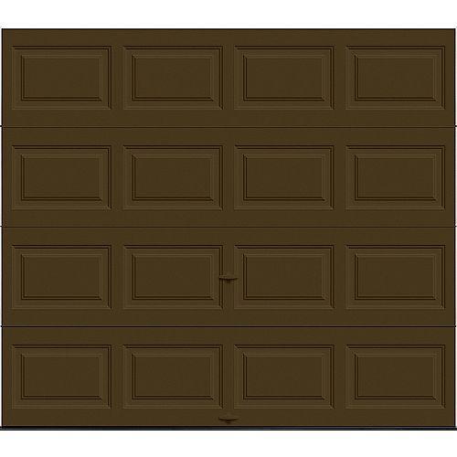 Porte de garage Classique 8pi x 7pi isolée Intellicore Valeur «R» 12.9 Chocolat