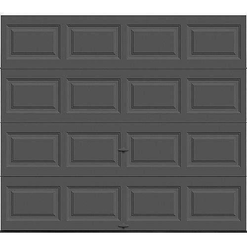 Porte de garage Classique 8pi x 7pi isolée Intellicore Valeur «R» 12.9 Charbon