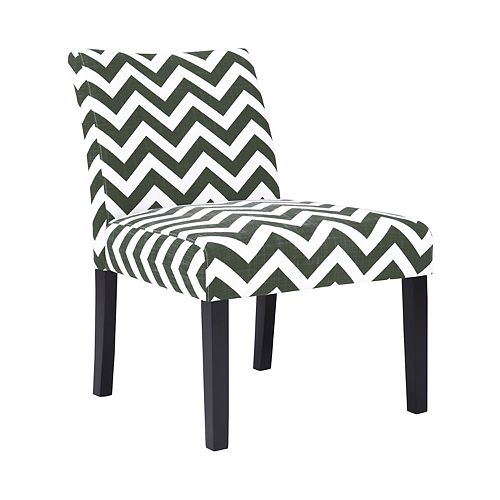 Courteney Armless Chair in Charcoal Zigzag