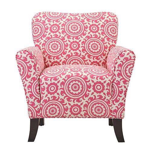 Dantana Arm Chair in Magenta Medallion