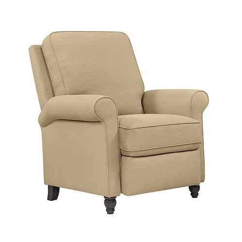 Fauteuil inclinable en lin gris taupe