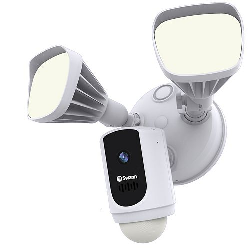 Swann 1080p Smart Wi-Fi Floodlight Security Camera - White