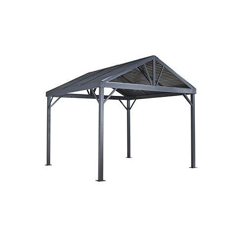 Sanibel I 8 ft. x 8 ft. Sun Shelter in Grey