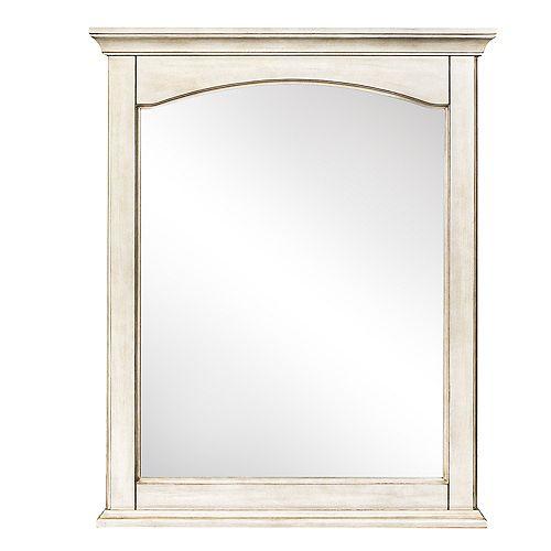 Corsicana Miroir Blanc Antique de 26 po