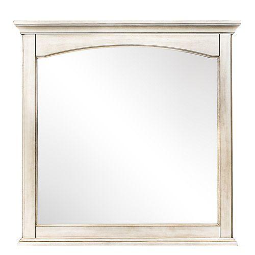 Corsicana Miroir Blanc Antique de 32 po