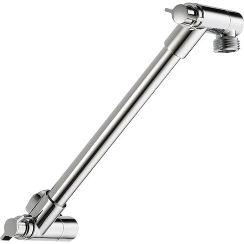 Bras de douche ajustable en chrome