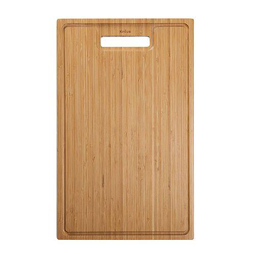 Bambou Solide organique Planche à découper pour évier de cuisine 19,5 à. x 12 po.