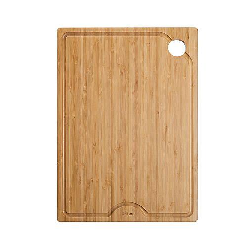 Poste de travail de cuisine évier 12 po. Solid Planche à découper en bambou