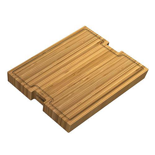Poste de travail 22 3/4 po. L x 16 3/4 po. W en bambou Planche à découper