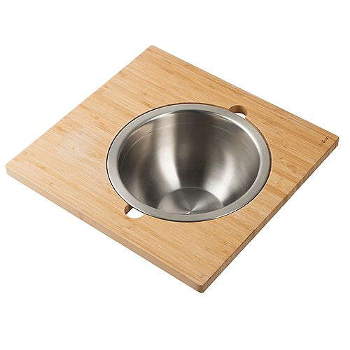 Kraus Workstation Board Set with Stainless Steel Mixing Bowl for Kitchen Sink