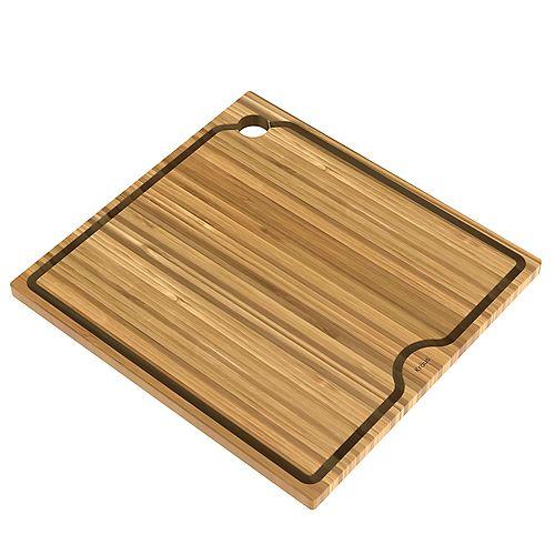 Poste de travail d'évier de cuisine 16 po. Solid Planche à découper en bambou