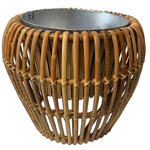 8.5-inch x 13.-inch Bamboo Planter with Zinc Insert