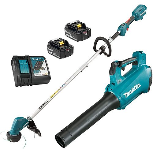Lithium-Ion Cordless String Trimmer and Blower Combo Kit