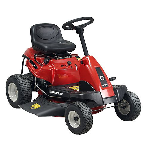 30-inch 10.5 HP Rear Engine 6 Speed Riding Gas Lawn Mower with Electric Start