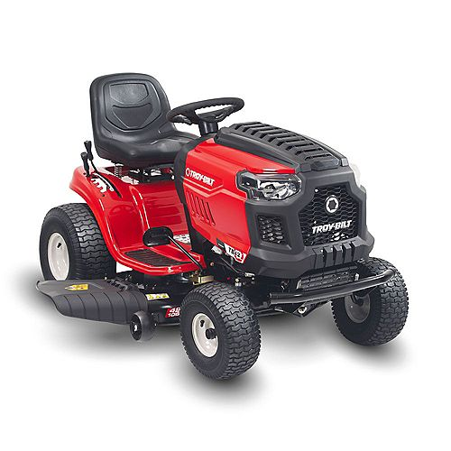 Bronco 42-inch 439cc Automatic Drive Gas Lawn Tractor with Mow in Reverse and Electric Start