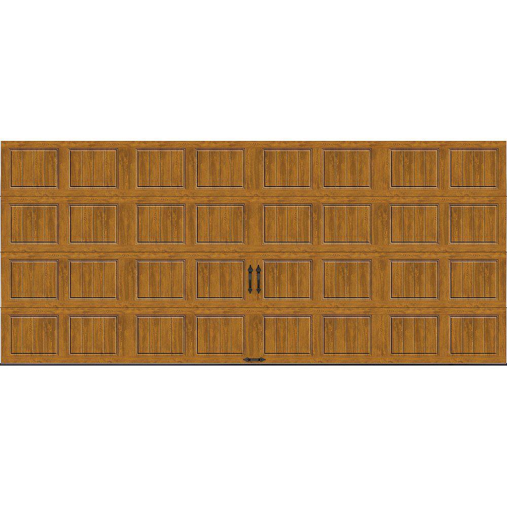 Clopay Porte de garage Gallery 16pi x 7pi isolée Intellicore Valeur «R» 18.4 Fini pâle