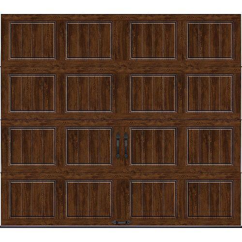 Porte de garage Gallery 9pi x 7pi isolée Intellicore Valeur «R» 18.4 Fini noyer