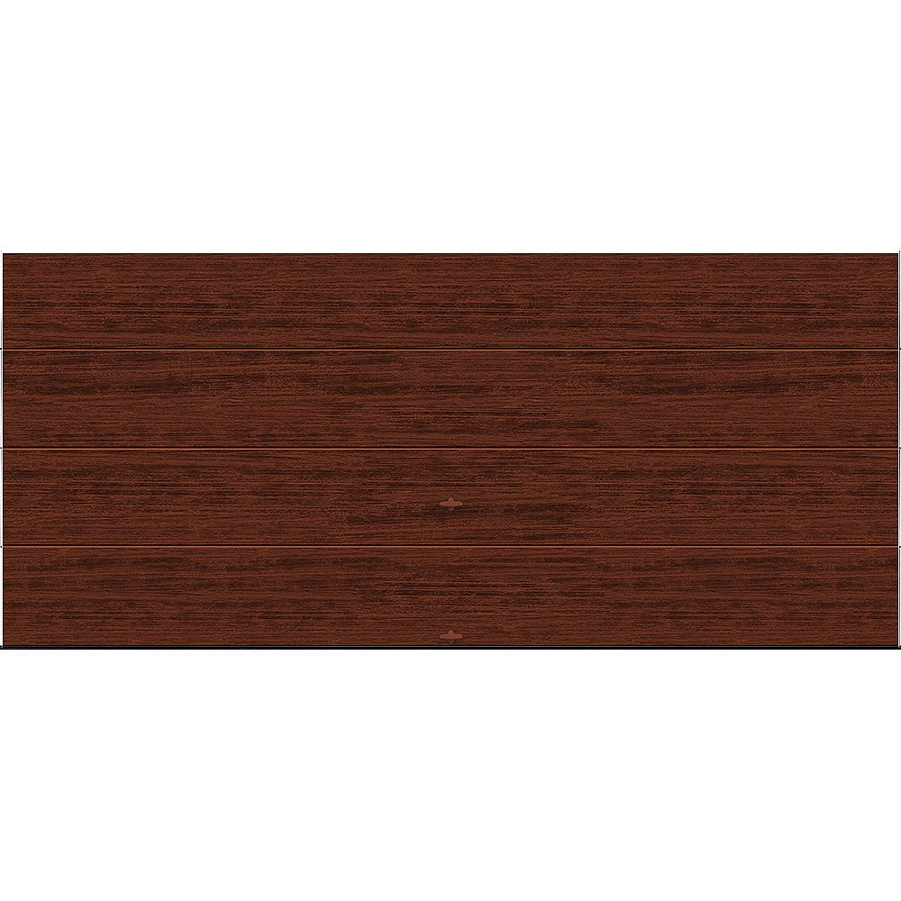 Clopay Porte de garage Griffintown 16pi x 7pi isolée Intellicore Valeur «R» 18.4 Fini Cerisier