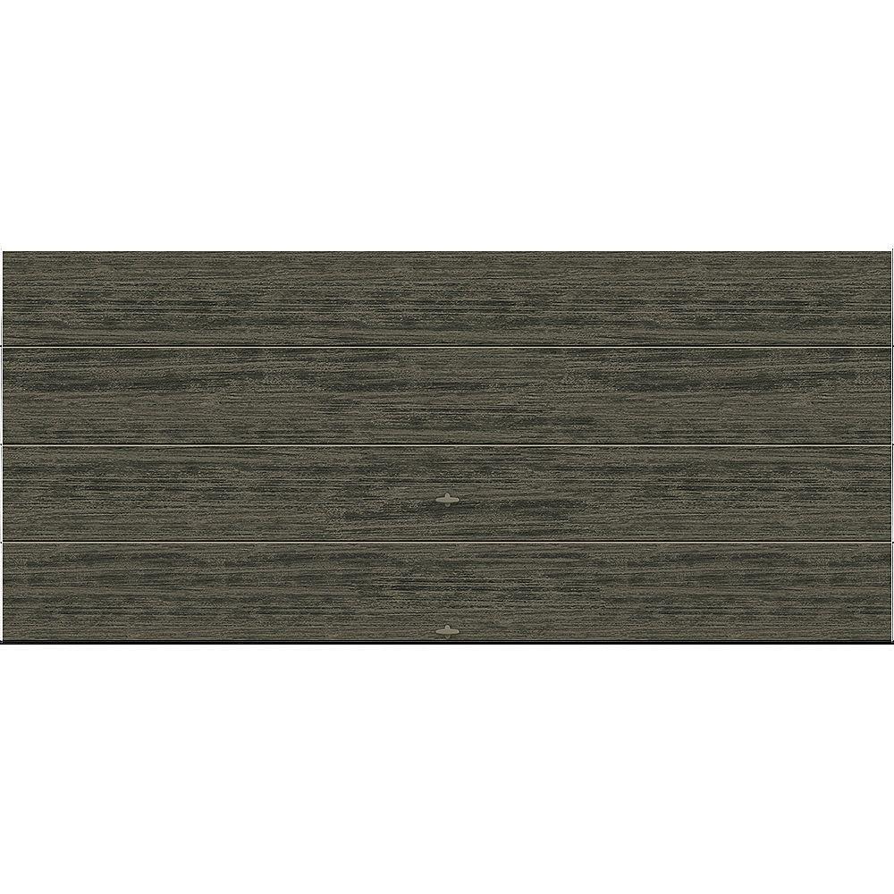 Clopay Porte de garage Griffintown 16pi x 7pi isolée Intellicore Valeur «R» 18.4 Fini Ardoise